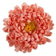 Искусственная головка Хризантемы «цвета шампань» 18 см