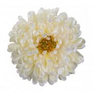 Искусственная головка  Хризантемы «белая» 18 см