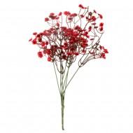 Цветок искусственный красная Гипсофила 35 см