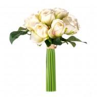 Букет из искусственных белых роз  14 шт 23 см