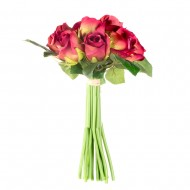 Букет из искусственных красных роз  14 шт 23 см