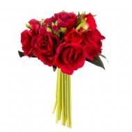 Букет из искусственных красных роз  17 шт 23 см