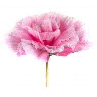 Искусственная головка розы «светло-розовая» 75 см