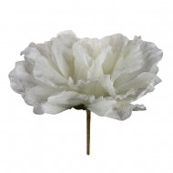Искусственная головка розы «белая» 75 см