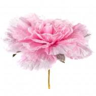 Искусственная головка розы «светло-розовая» 55 см