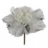Искусственная головка розы «молочного цвета » 55 см