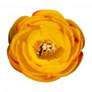 Искусственная головка розы «желтая» 4,5 см