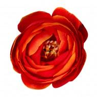 Искусственная головка розы «оранжевая» 4,5 см