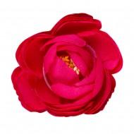 Искусственная головка розы «темно-розовая» 4,5 см