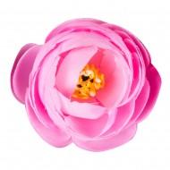 Искусственная головка розы «розовая» 4,5 см