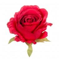 Искусственная головка розы «красная» 10 см
