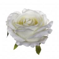 Искусственная головка розы «белая» 10 см