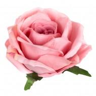 Искусственная головка розы «розовая» 10,5 см