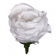 Искусственная головка розы «белая» 10,5 см