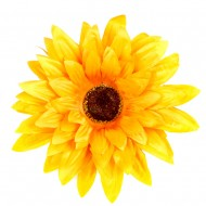 Искусственная головка Герберы «темно-желтая» 15 см