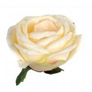 Искусственная головка розы «цвета шампань»  13 см