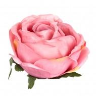 Искусственная головка розы «розовая»  13 см