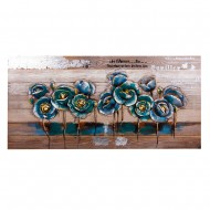 Панно Цветы 64х130 см