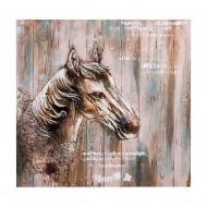 Панно Конь 90х90 см