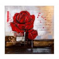 Панно Красные розы 80х80 см