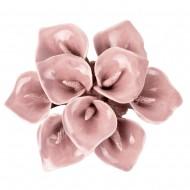 Цветок декоративный  керамический 9х9х3 см