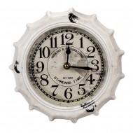 Настенные часы в форме крышки от бутылки белые 22х4х22 см