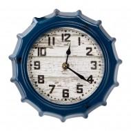 Настенные часы в форме крышки от бутылки синие 22х4х22 см