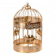 Клетка декоративная золотая 19х27 см