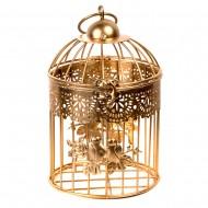 Клетка декоративная золотая 15х25 см