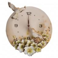 Часы настенные Цветы и птицы 42х39х1 см