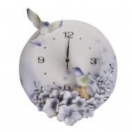 Часы настенные Цветы и птицы 42х39х2 см