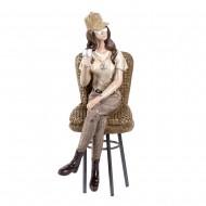 Статуэтка Девушка с бокалом 13х9х24,5 см