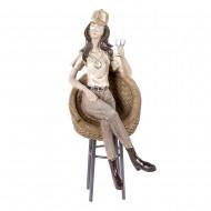 Статуэтка Девушка с бокалом 13х9,5х25 см