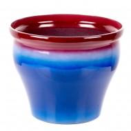Горшок пластиковый для цветов синий 25х20 см