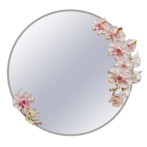 Зеркало настенное с орхидеями 64х64х8,5 см