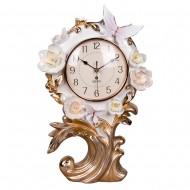 Часы настольные цветы 34х25 см