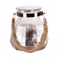 Колба-ваза стеклянная с ручкой 19 см