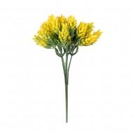 Букет искусственных цветов с колосками 20 см