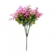 Букет искусственных цветов с листочками 20 см