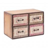Шкатулка для украшений 4 ящика 26х16х18,5 см