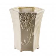 Горшок для цветов Белый керамический 26х20х14 см