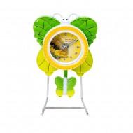 Часы на металлической подставке Бабочка