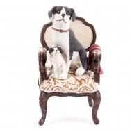 Статуэтка Собачки на кресле 20х10 см