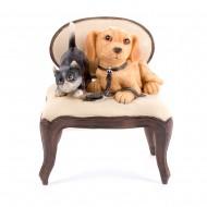 Статуэтка Котенок и щенок 15х10 см