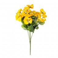 Букет из желтых искусственных цветов  Анютины глазки 39 см