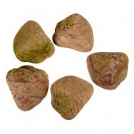 Камни с искуственным мхом 5 шт желтые
