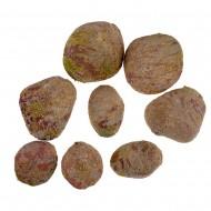 Камни с искуственным мхом 8 шт желтые