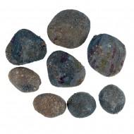 Камни с искуственным мхом 5 шт зеленые