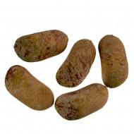 Камни с искуственным мхом 4 шт желтые