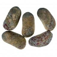 Камни с искуственным мхом 4 шт зеленые